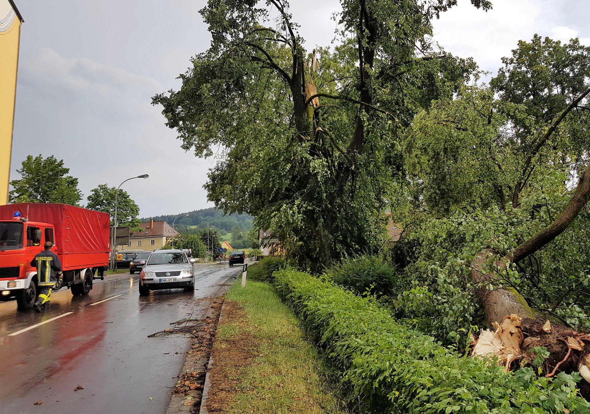 Feuerwehr Waldmünchen Extremes Unwetter Sorgte Für 39 Einsätze